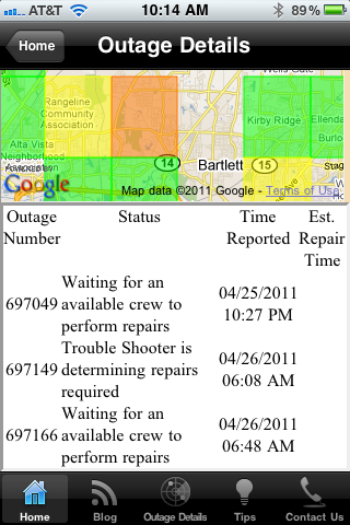 Outage Details