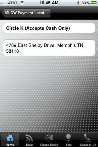 Payment Location Details