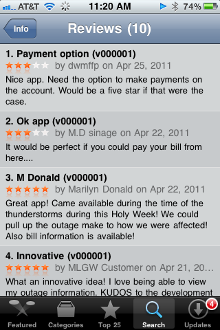 App Store Reviews for MLGW