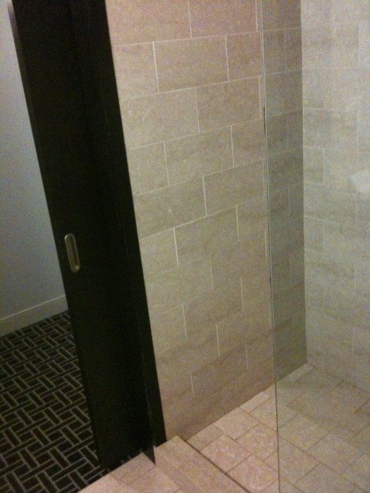 Opening to shower