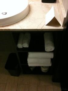 Towel cubbies