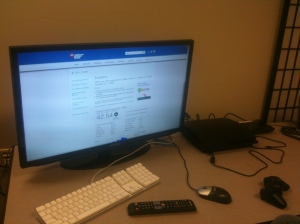Viewing our site on a Samsung SmartTV. Also pictured are a Sony Playstation 3 and Google TV.